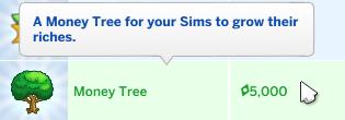 The Sims money tree