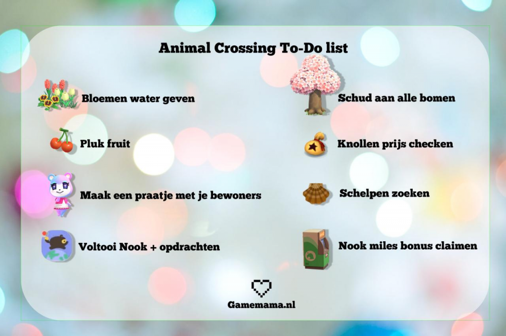 To do list animal crossing
