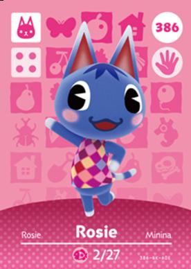 Rosie Amiibo card
