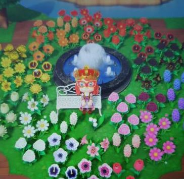 Rainbow garden Animal Crossing