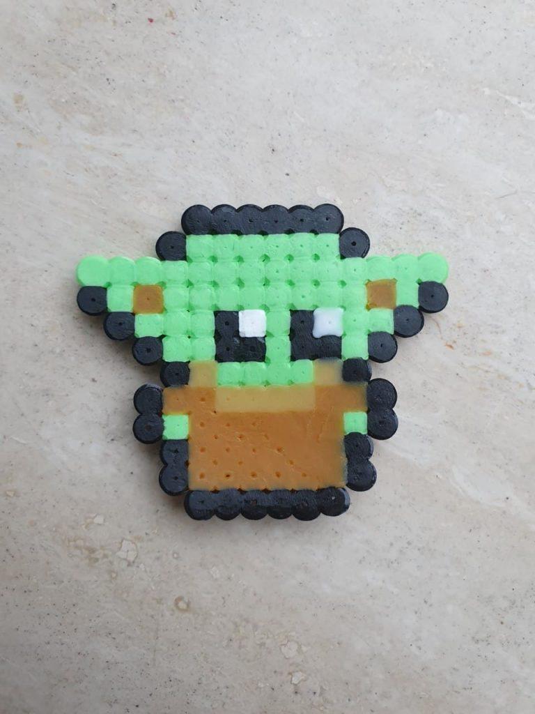 Baby Yoda strijkkralen voorbeeld DIY